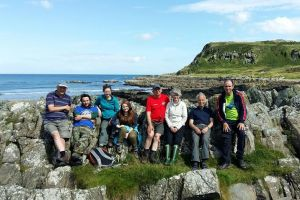 BSBI Botanists taking a break for lunch - John Conaghan