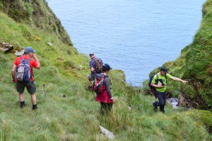 BSBI Botanists near Glengad Head - Oisin Duffy