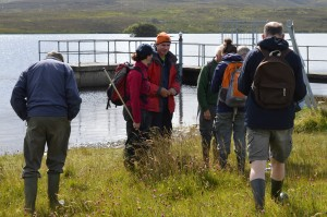 BSBI Botanists at Lough Fad - Oisín Duffy